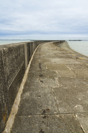 cymru: The Victorian Breakwater  1 7 miles long  at Holyhead, Anglesey, Wales, United Kingdom  Stock Photo