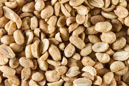 glutamate: Dry roast peanuts, close up