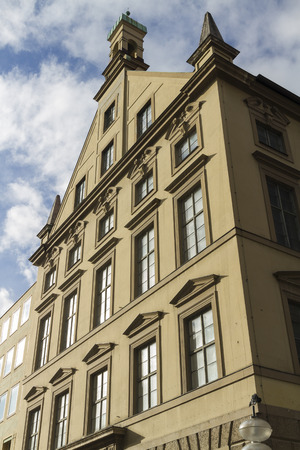 frontage: Old large frontage. Neuhauser Str, Munich, Bavaria, Germany, Europe.