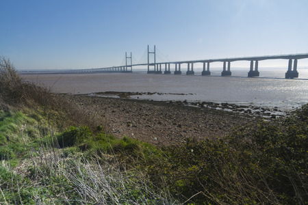 bristol channel: The Second Severn crossing is a bridge that carries the M4 motorway over the Bristol Channel or River Severn Estuary between England and Wales, United Kingdom.
