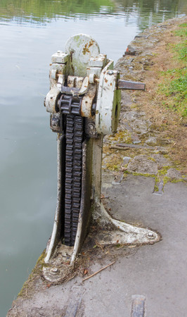 lift lock: The Paddle gear that opens and closes valves in a lock. Kennett and Avon Canal, Devizes, Wiltshire, England, United Kingdom, Europe Stock Photo