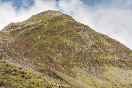 snowdonia: Mountain Cnicht in Croesor Valley, Snowdonia Stock Photo