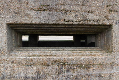 loophole: Concrete loophole of WWII Vickers Machine Gun Post.