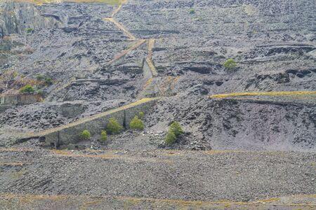 disused: Los restos en desuso en Dinorwic Slate Quarry