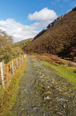 elan: Path originally the Elan Valley Railway near Rhayader Powys Wales United Kingdom.