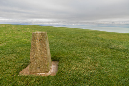 triangulation: Trig or Triangulation Point. Used to be for map surveying.