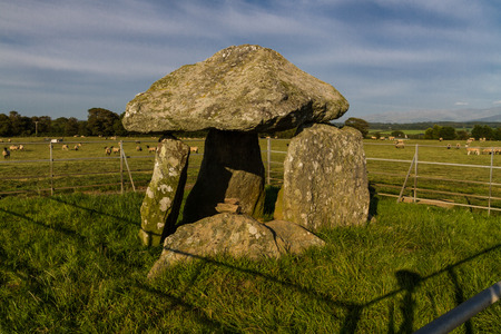 neolithic: Bodowyr Burial Chamber, Neolithic tomb. Anglesey, Wales, United Kingdom.