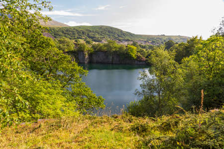disused: Disused Dorothea Slate Quarry, Nantlle, Gwynedd, Wales, United Kingdom. Stock Photo