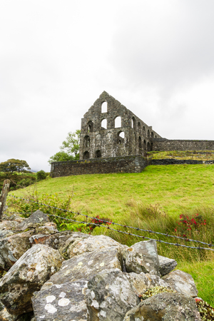 nant: Ruin of the Pont y Pandy slate processing mill. Snowdonia, North Wales, United Kingdom