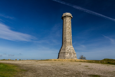 trafalgar: Hardys Monument in memory of commander at the Battle of Trafalgar. Dorchester, Dorset, England, United Kingdom.