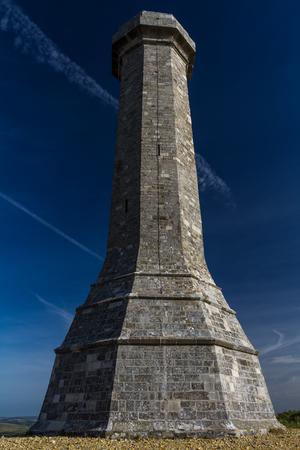 Hardys Monument in memory of commander at the Battle of Trafalgar. Dorchester, Dorset, England, United Kingdom.
