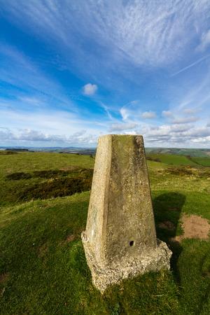 Triangulation Point on Abbotsbury Castle ancient earthwork, Abbotsbury, Dorset, England, United Kingdom.