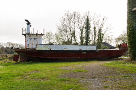 CHEPSTOW – APRIL 6: Derelict Car Ferry The Severn Princess. Used to take cars and passengers across the Bristol Channel before the Severn Crossing opened in 1966.