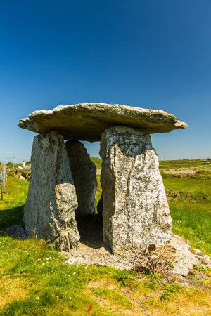 Probably a folly, this apparent burial chamber is at Rhoscolyn, Anglesey, Wales, United Kingdom, Europe Stock Photo