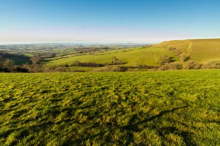 Winter day landscape from Eggardon Hill, Dorset, United Kingdom