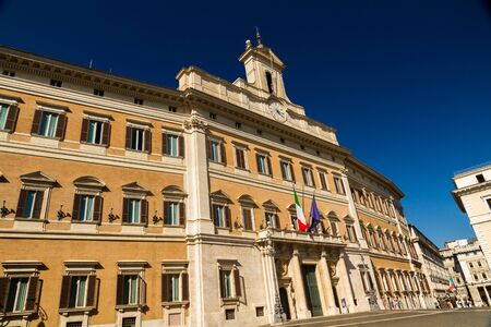 ROME – AUGUST 28: Palazzo Montecitorio the seat of the Italian Chamber of Deputies on August 28, 2016 in Rome