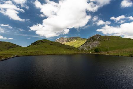 Llyn y Dywarchen Reservoir, Rhyd Ddu, Gwynedd, Wales, United Kingdom