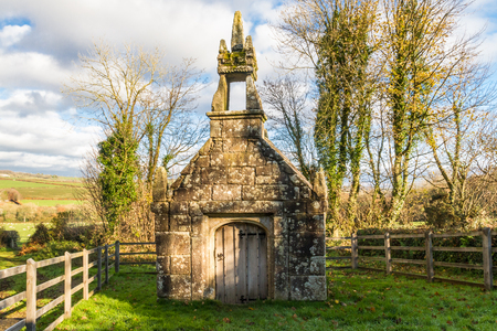 Dupath Well is dedicated to St Ethelred built over a spring. Dupath, Callington, Cornwall, England, United Kingdom. Stock Photo