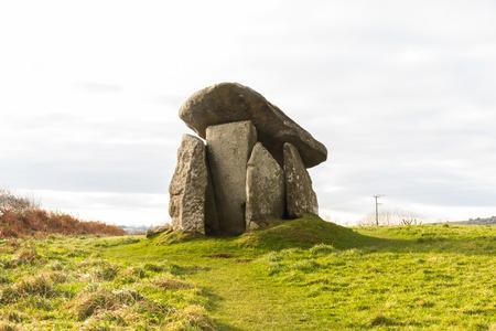 Trethevy Quoit or the Giants House. Liskeard, Cornwall, England, United Kingdom. Stock Photo