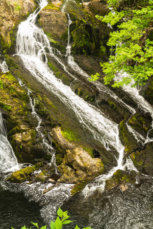 north cascade national park: Part of the Swallow Falls in Snowdonia National Park. Betws y Coed, Gwynedd, Wales, United Kingdom. Stock Photo