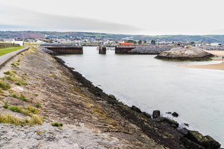 View of Burry Port Harbour, Llanelli, Carmarthenshire, Wales.