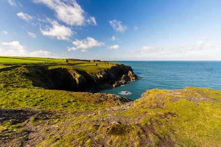 The west welsh coast. Porthgain, Pembrokeshire, Wales, United Kingdom
