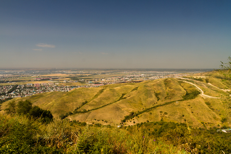 View to the north of Almaty, Kazakhstan, Asia.