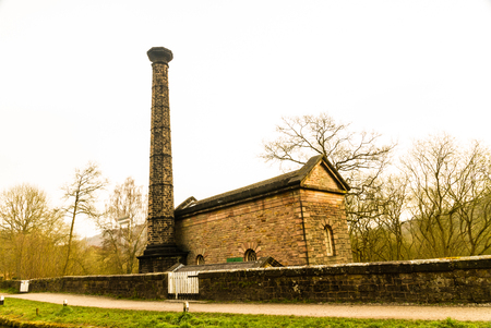 Leawood beam engine pump house, Cromford, Peak District, Derbyshire, England, UK.
