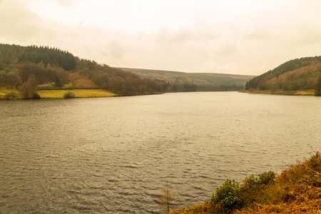 The  Ladybower reservoir. Near Sheffield, in Peak District, Derbyshire, England, United Kingdom.