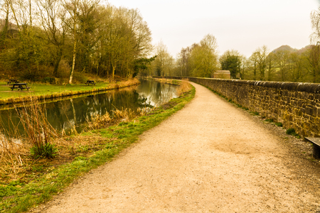 By the Cromford Canal, Peak District, Derbyshire, England, UK.