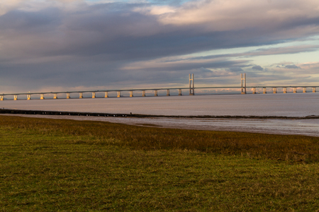 The Second Severn crossing, bridge that carries the M4 motorway over the Bristol Channel or River Severn Estuary between England and Wales, United Kingdom.