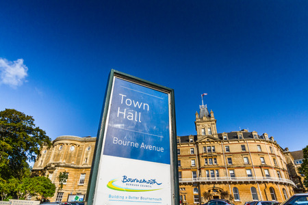 Bournemouth, United Kingdom – Bournemouth Town Hall on September 21 2018 in Bournemouth.