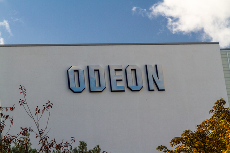 Bournemouth, United Kingdom – Odeon Cinema Theatre sign on September 21 2018 in Bournemouth.