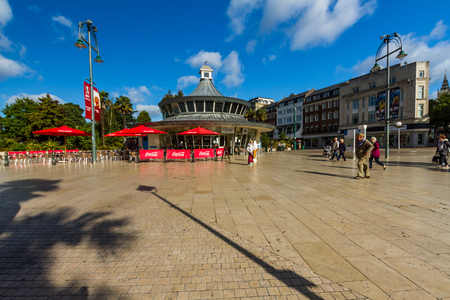 Bournemouth, United Kingdom – Bournemouth Square pedestrianised area on September 21 2018 in Bournemouth.