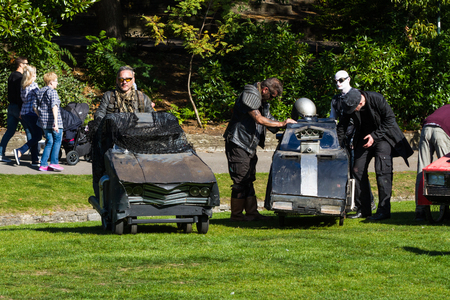Bournemouth, United Kingdom  – Mad Max Prams at Bournemouth Arts By The Sea Festival  September 29 2018 in United Kingdom.