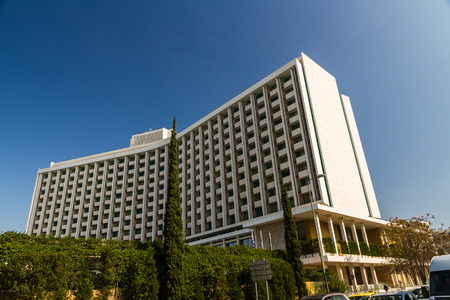 Athens, Greece – October 24 The Hilton Athens Hotel on October 24 2018 in Greece.