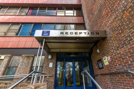Bournemouth, England – BCP Bournemouth, Christchurch and Poole Council, Christchurch Civic Offices, created April 1 2019 on March 31 2019 in UK.