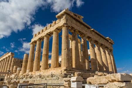 Parthenon on the Acropolis in Athens, Greece. Imagens