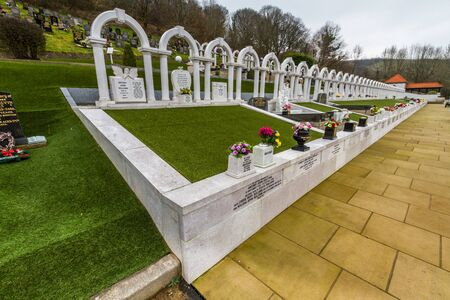 Aberfan, Wales � Disaster Memorial Garden, wide angle, on February  17 2019 in UK, portrait. Editorial