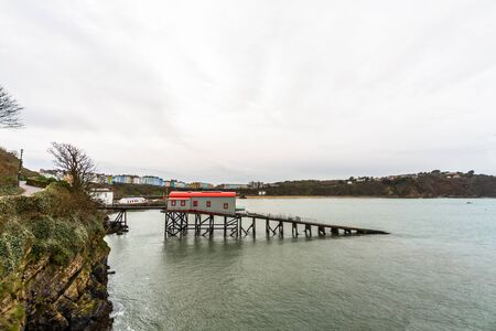 Tenby, Wales – old lifeboat Station, on February 18 2019 in Wales Editorial