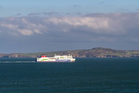 Holyhead, Wales – Editorial, Stena Line Ferries Ferry ship, on November  18 2018 in UK, landscape
