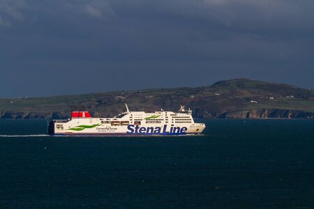 Holyhead, Wales – Editorial, Stena Line Ferries Ferry ship, landscape, on November  18 2018 in UK, landscape Editorial
