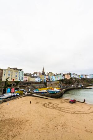 Tenby, Wales – Harbour, Portrait, on February 18 2019 in Wales