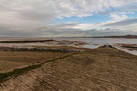 View of slipway and Severn Estuary from Beachley, landscape Reklamní fotografie