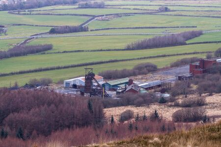 Tower Colliery was the oldest continuously working deep-coal mine in UK. South Wales, landscape Standard-Bild - 130943988