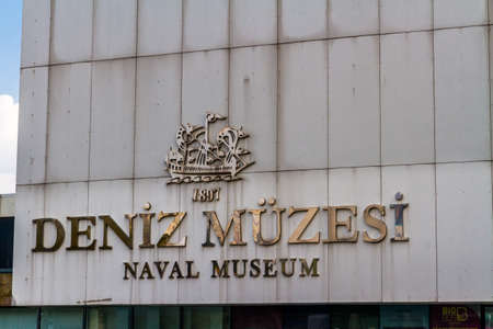 Istanbul, Turkey,  Sign for the Naval Museum, on October 30 2019 in Turkey