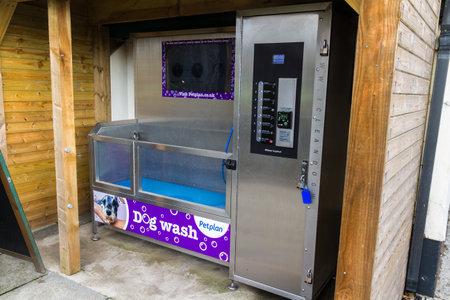 Port Talbot, United Kingdom, Polygon automatic Dog Wash , Margam Country Park, Port Talbot on December 13 2019 in Wales, United Kingdom Редакционное