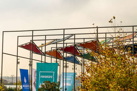 Istanbul, Turkey, Entrance to Miniaturk miniature park on October 30 2019 in Istanbul, Turkey