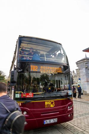Istanbul, Turkey, Big Bus Sightseeing Tour on October 30 2019 in Istanbul, Turkey