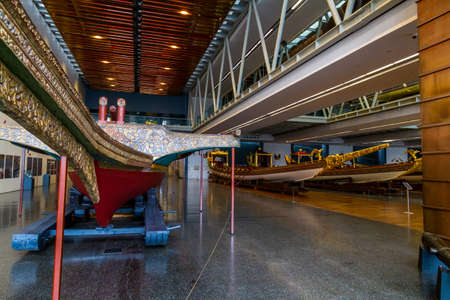 Istanbul, Turkey, Imperial Boats in the Maritime Museum on October 30 2019 in Istanbul, Turkey